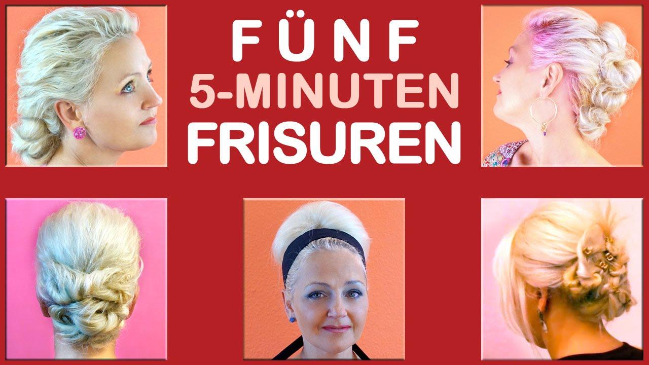 FÜNF 5 MINUTEN FRISUREN Einfache Frisuren Für Alltag Freizeit