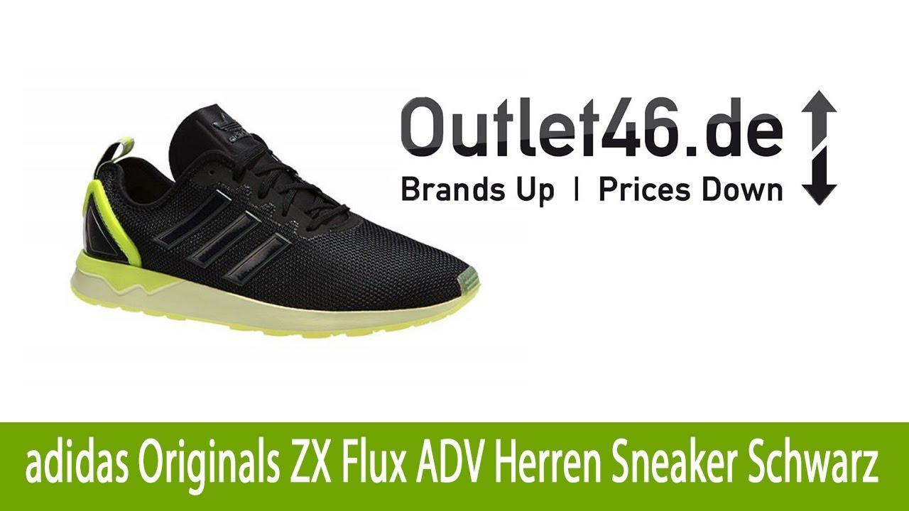 Angesagter adidas Originals ZX Flux ADV Herren Sneaker Schwarz günstig online kaufen |