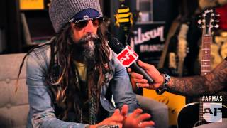 Rob Zombie interviewed in the GIBSON backstage lounge at the apmas