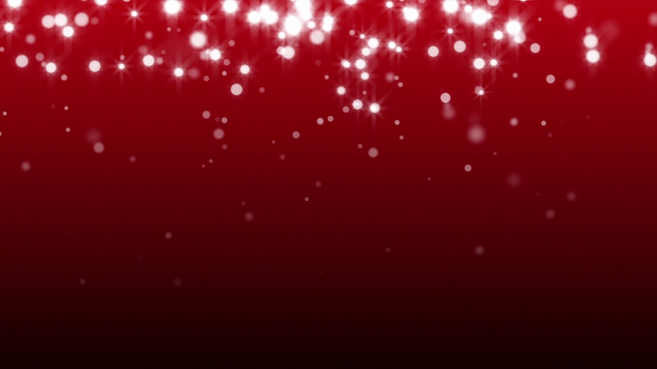 white bokeh sparkles on red background animated moving
