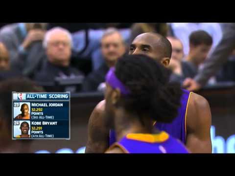 NBA : Kobe Bryant Passes Michael Jordan For 3rd On All-Time Scoring List