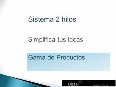 Sistema 2 Hilos Portero Y Videoportero Tegui