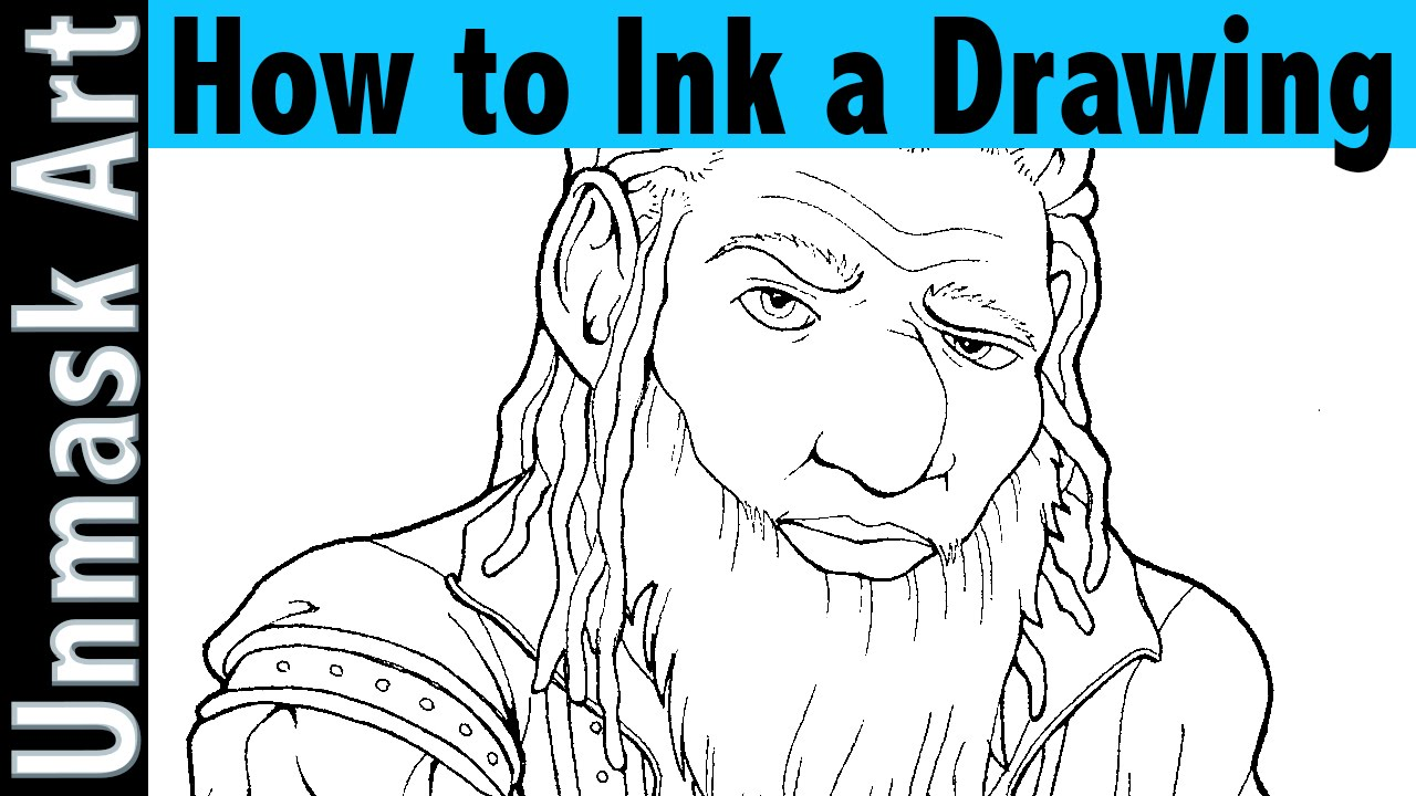 picture How to Ink a Drawing