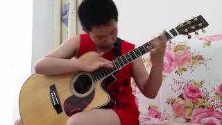 13 years old chinese guitar genius play Revolution of Conny Bergh ll