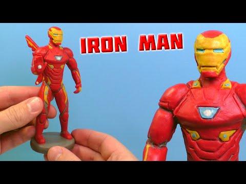 Как сделать железного человека из пластилина