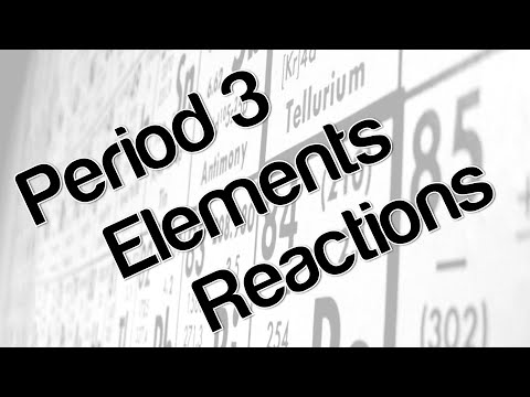 Period 3 Elements  Reactions