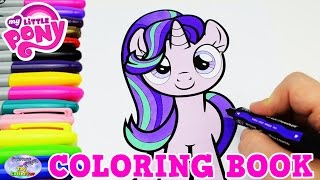 My Little Pony Coloring Book MLP Starlight Glimmer Episode Surprise Egg and Toy Collector ...