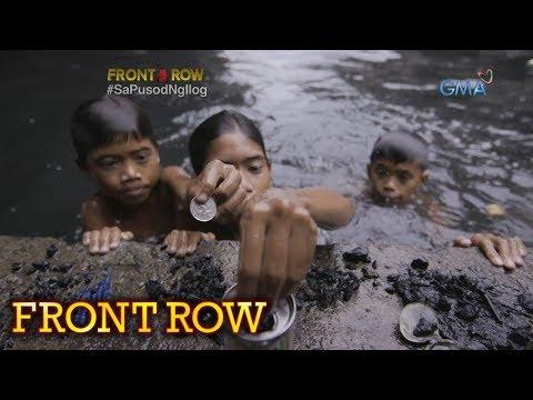 Front Row: Mga bata sa Tondo, sumisisid sa ilog upang mamulot ng barya