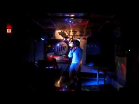 Colin Bertram singing at Canteen Bar in L'Anse, MI