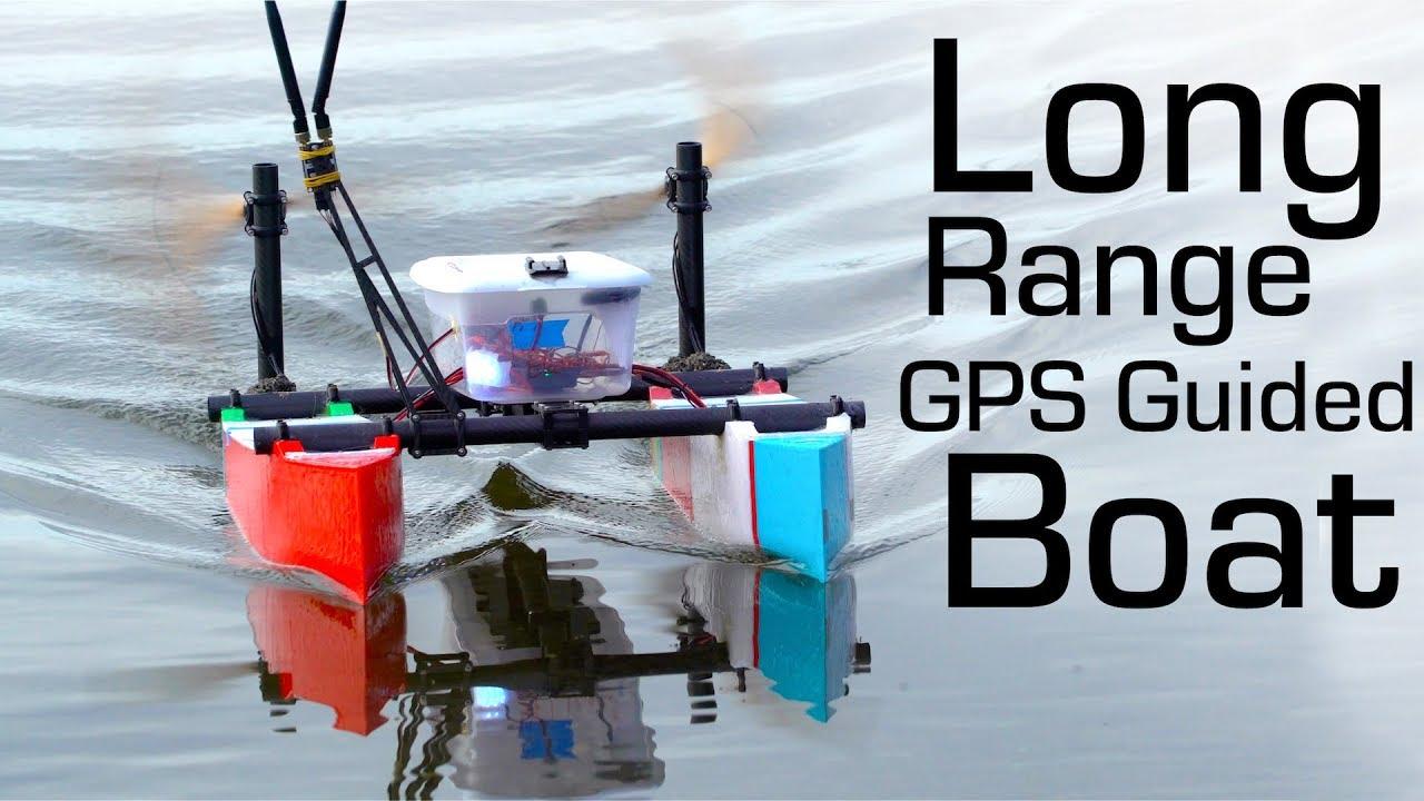 Autonomous R/C Boat 13km Waypoint Mission