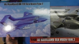Sprue Comparison Airfix 1/48 Sea Vixen FAW.2 vs. Trumpeter 1/48 Sea Vixen FAW.2