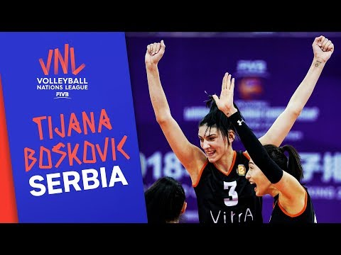 Tijana Boškovic of Serbia is a threat on the diagonal | VNL Stars | Volleyball Nations League 2019