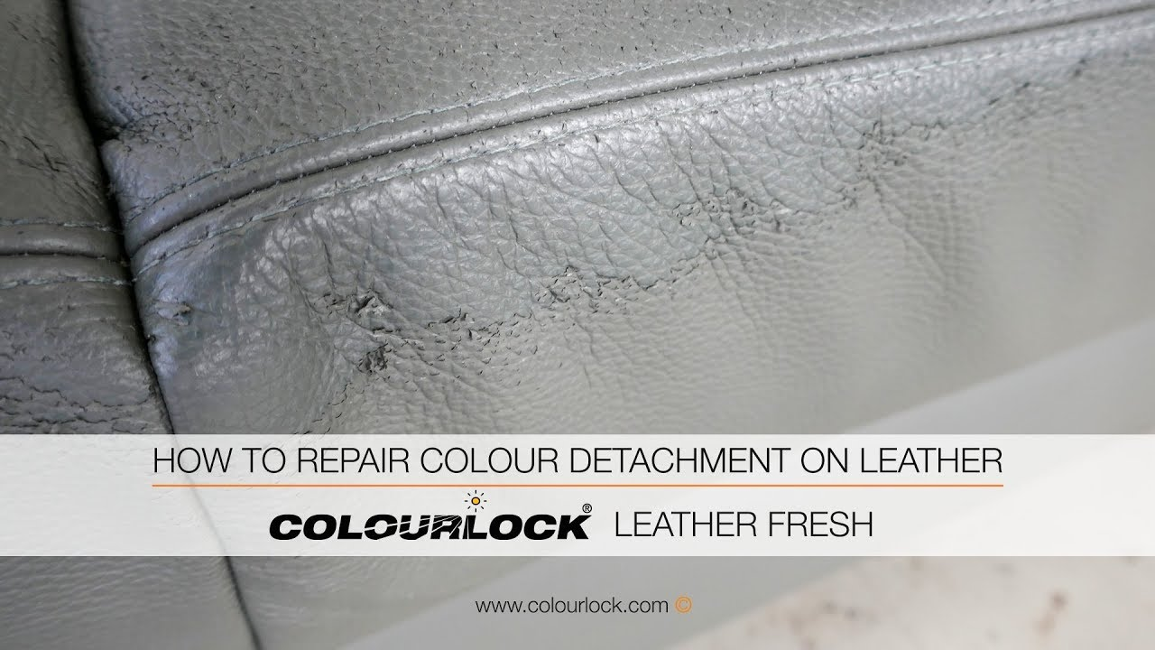 How To Repair Colour Peeling On Leather Youtube