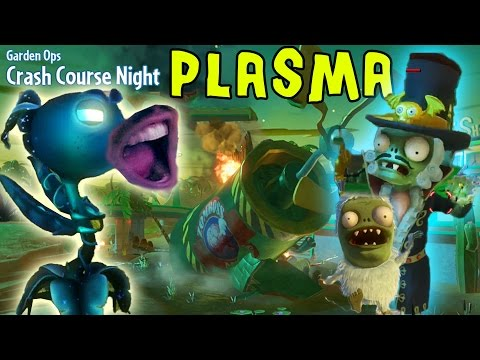 Let's Play PVZ Garden Warfare: PLASMA PEA Shooter! BARON VON BATS ZOMBOSS Crash Course Garden Ops