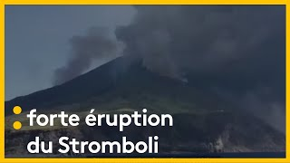 Images du Stromboli en éruption tournées par un touriste français