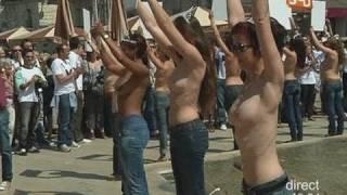 Des femmes seins nus pour le dépistage (Montpellier)