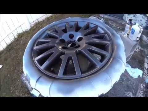 How to paint rims with Spray Paint