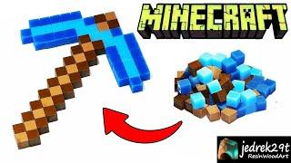 Minecraft Diamond Pickaxe from Epoxy Resin / ART RESIN