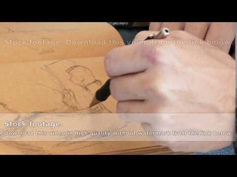 Graphic artist draws sketch picture artwork manual