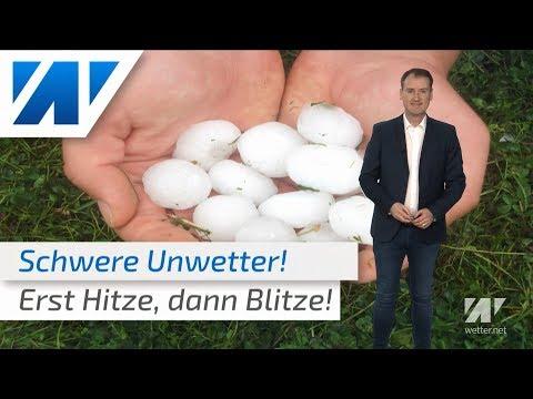 Nach dem Tornado in Bocholt: Weitere Unwetter mit Tornados - zuvor bis 36°C! (Mod.: Dominik Jung)