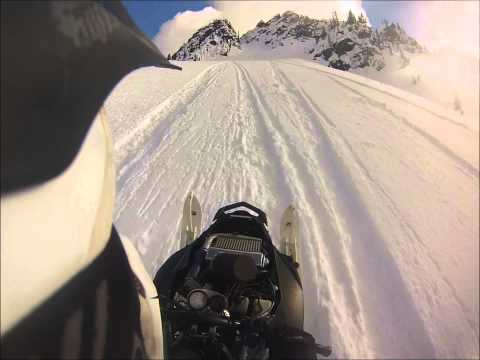 Turbo apex up Dixies chute in bc