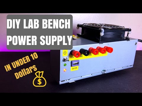 DIY Lab Bench Power Supply | Computer ATX Power Supply Conversion in under $10
