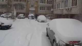 Погода в Астрахани Сегодня идёт снег.февраль 2015