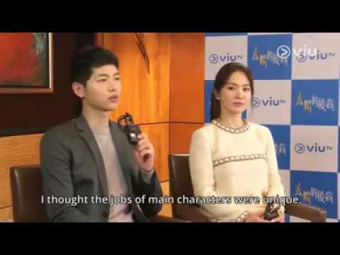 SONG JOONG KI SONG HYE KYO HONGKONG  INTERVIEW ENGLISH SUB