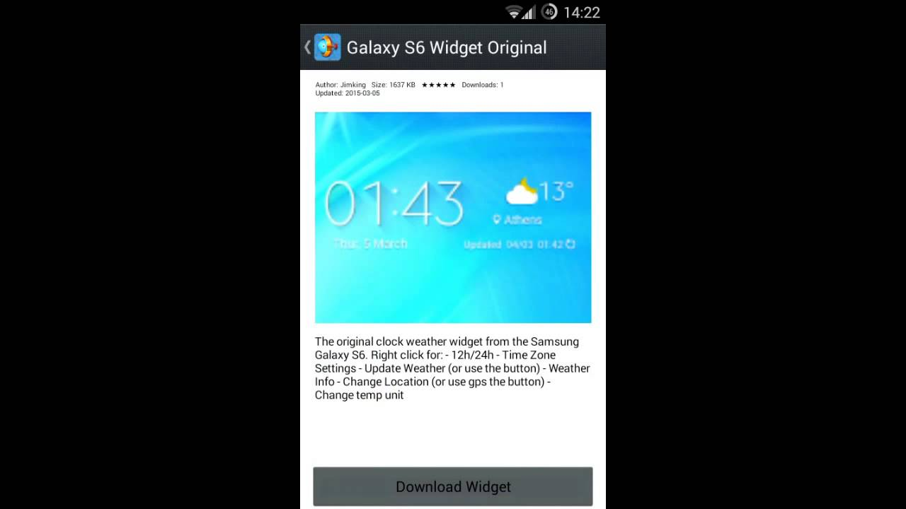 Samsung galaxy s6 weather widget wrong time | Wrong Time on