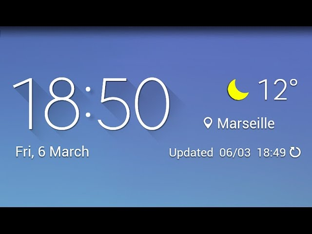 Galaxy S6 Weather Widget For Any Android Phone