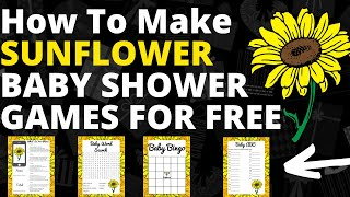 How To Easily Make A Sunflower Baby Shower Game For Free