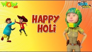 Happy Holi- Chacha Bhatija - 3D Animation Cartoon for Kids - As seen on Hungama TV