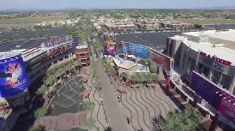 Glendale Westgate, Arizona (AZ) Shopping and Entertainment District from DJI Phantom 3