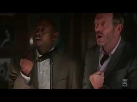 House, Chase and Foreman singing Midnight Train To Georgia.