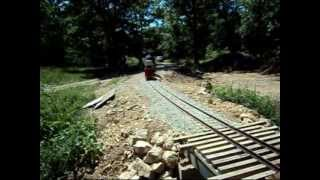 Train Ride Across Our New Bridge By The Driveway.1/8th Scale Trains.