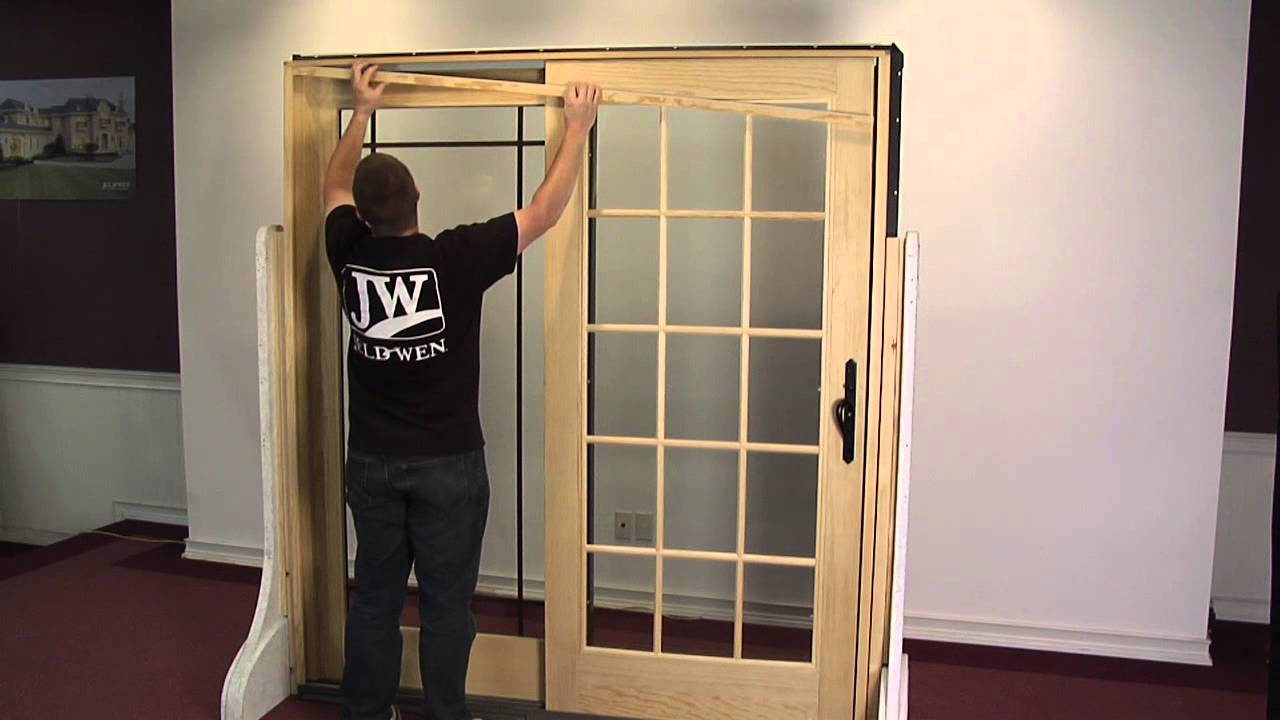 How To Remove And Reinstall An Operating Panel In A Sliding Wood Patio Door    YouTube