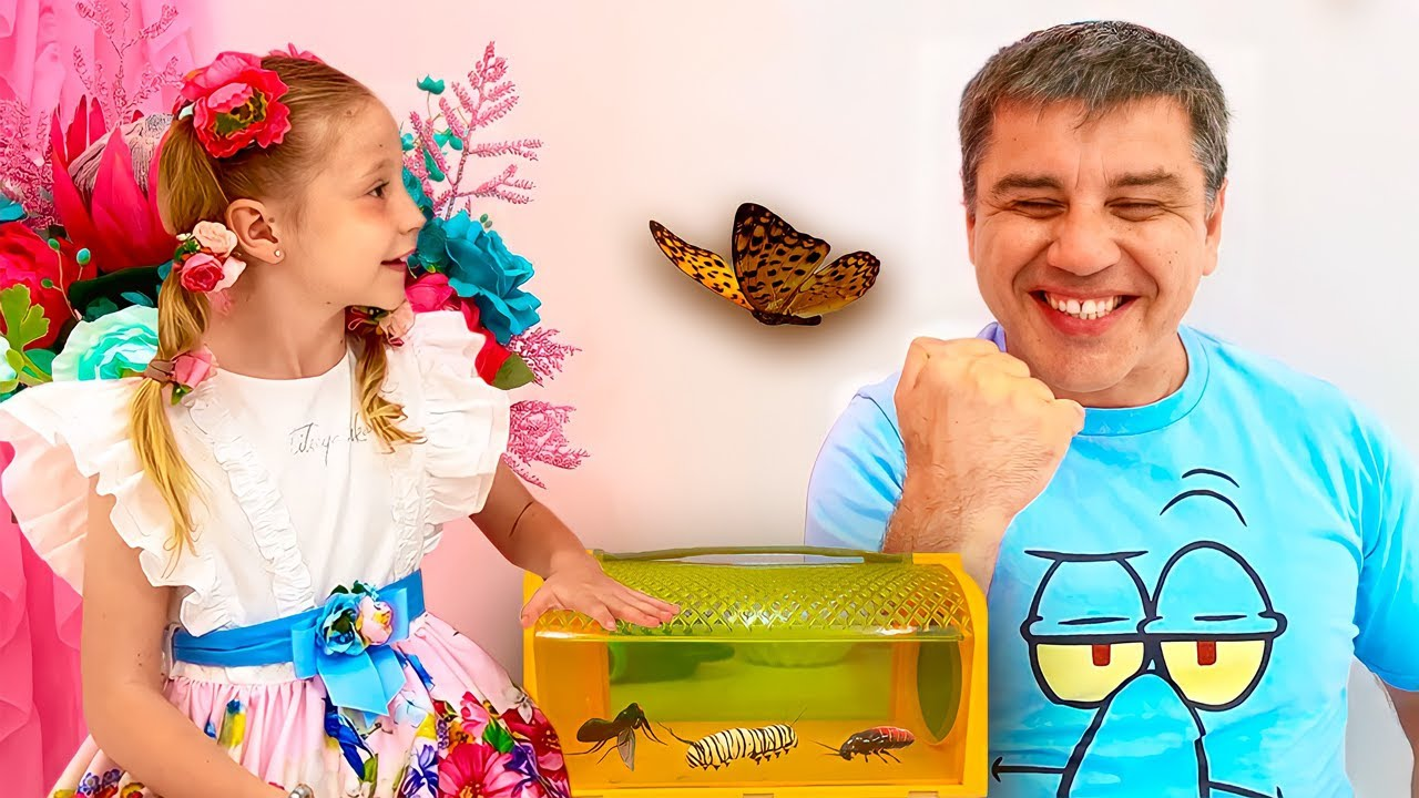Nastya learn insects with her dad Educational and useful video for children