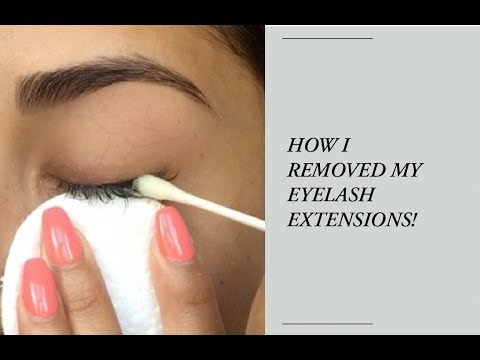 9a8ab78251c REMOVING MY LASH EXTENSIONS / coconut oil vs. olive oil - YouTube