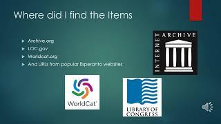 Esperanto Digital Library powerpoint