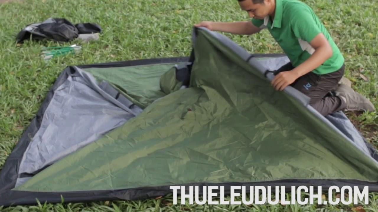 Hướng dẫn gấp lều cắm trại 4 người outwell