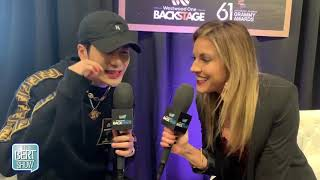 Jackson Wang Talks To Kristin Klingshirn at The GRAMMYs Radio Row Video