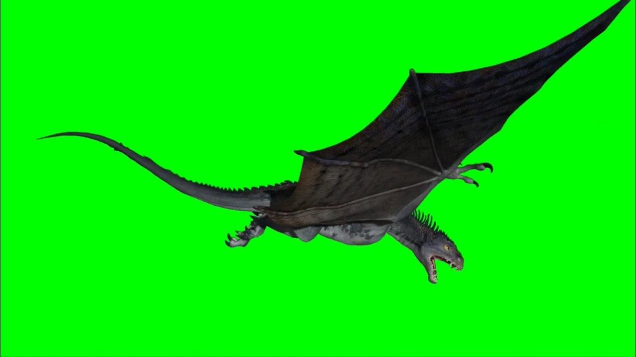 Flying Dragon: Green Screen Game Of Thrones Like Dragon 2 / Flying Dragon
