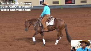 Rider and fellow reiners react  to broken bridle performance at AQHA Sr Reining by Horse of the West