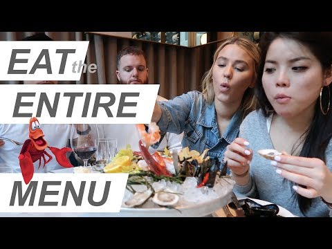 we ate the ENTIRE MENU - SEAFOOD GALORE