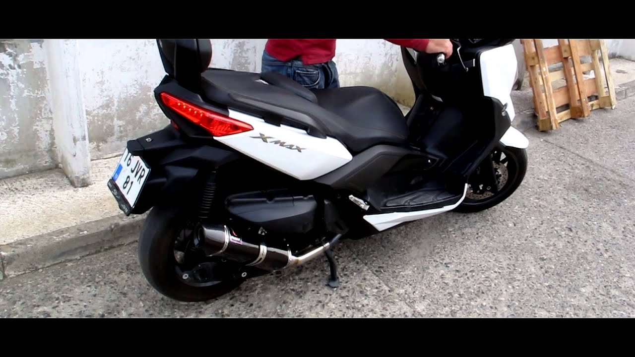 yamaha xmax 400 exhaust system hd sound youtube. Black Bedroom Furniture Sets. Home Design Ideas