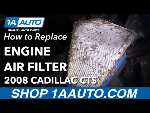 How to Replace Air Filter 08-14 Cadillac CTS