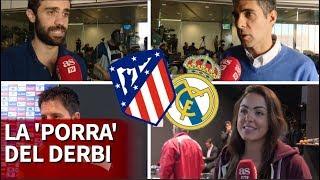 La 'porra' de los periodistas madrileños para el Atlético-Real Madrid | Diario AS