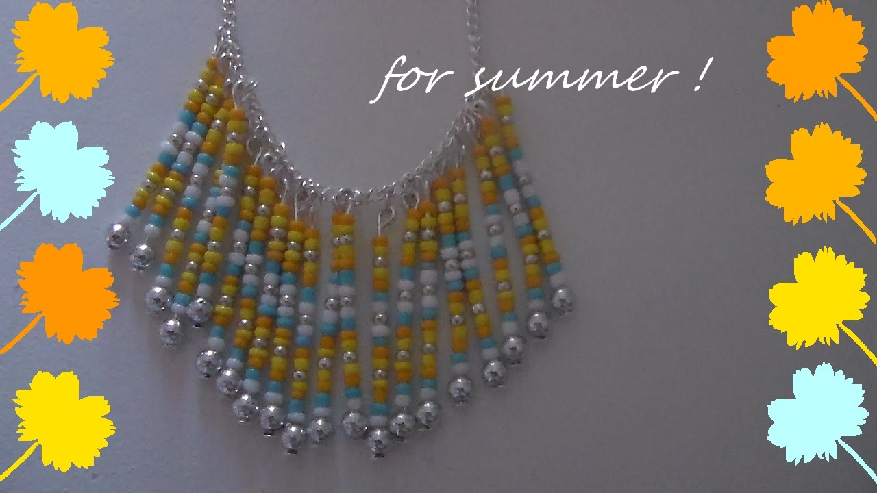 Fabrication de collier en perle de rocaille