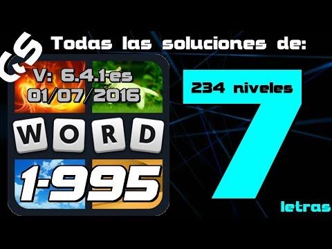 4 Fotos 1 Palabra todas las soluciones de 7 letras 1-995 GS