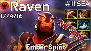 Raven [LOTAC] plays Ember Spirit!!! Dota 2 Full Game 7.21
